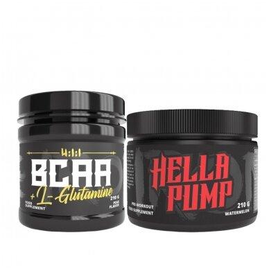 The Iron X BCAA + L-Glutamine + Hella Pump 210g
