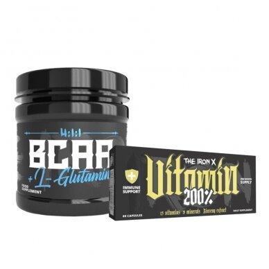 The Iron X BCAA + L-Glutamine ir Vitamin 200%