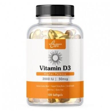 Vitalmax Care Vitamin D3 2000IU | 120 softgels